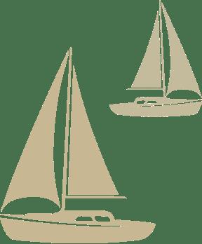 Boats background decoration